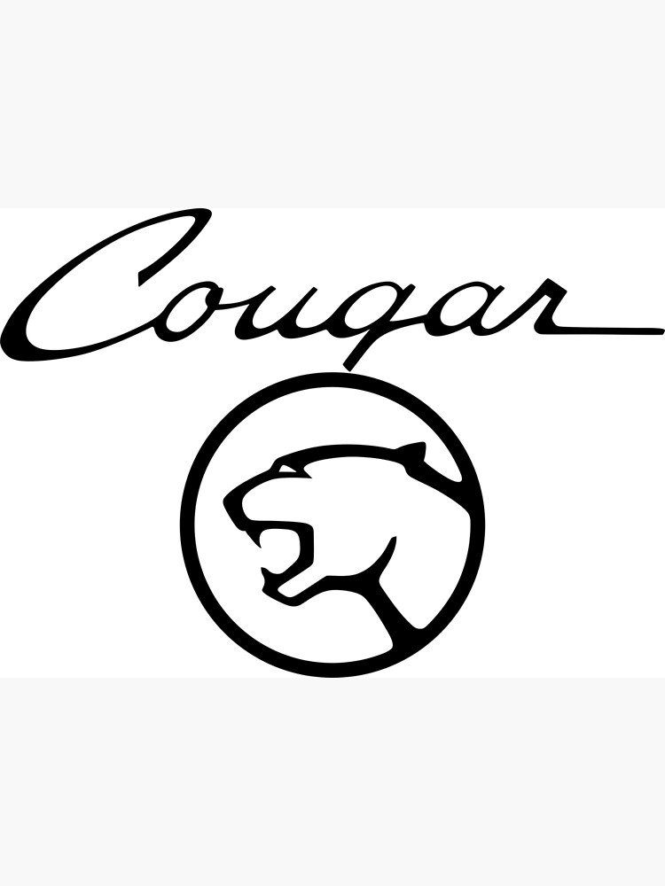 Mercury Cougar Script With Emblem.