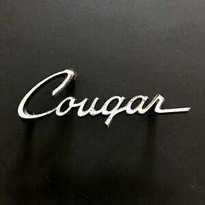 Details about Vintage Mercury Cougar Emblem Badge Trim Vintage OEM Script  Rare.