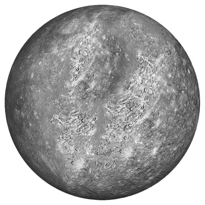 Planet Mercury transparent background.