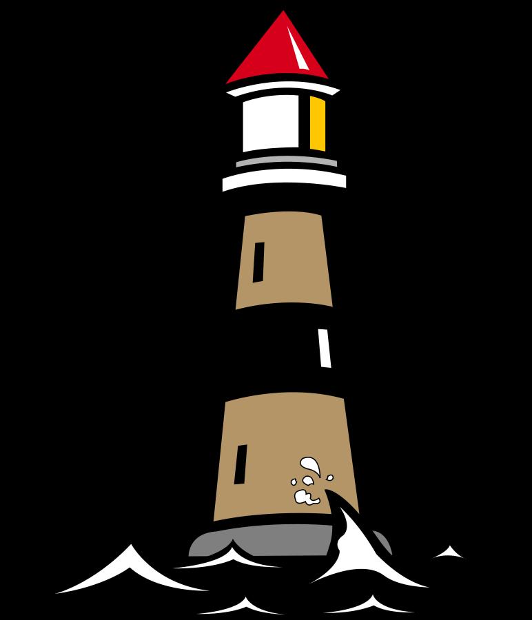 lighthouse clipart outline #8