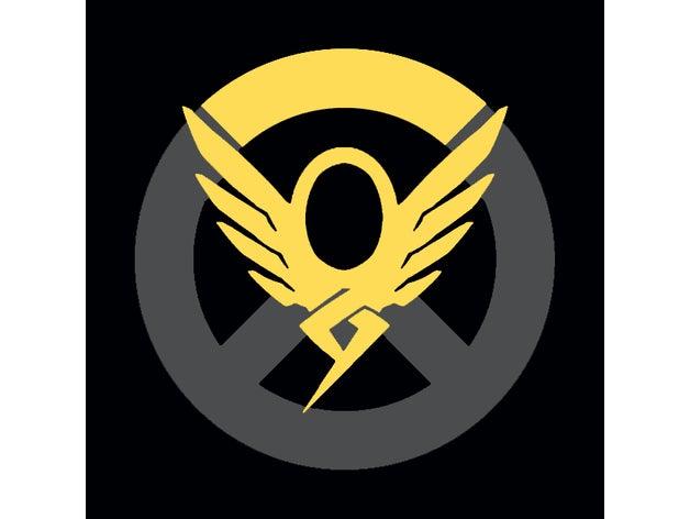 Overwatch Mercy Keychain/sign by saintmythi.
