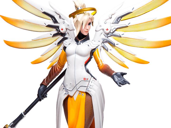 Overwatch Mercy Statue.