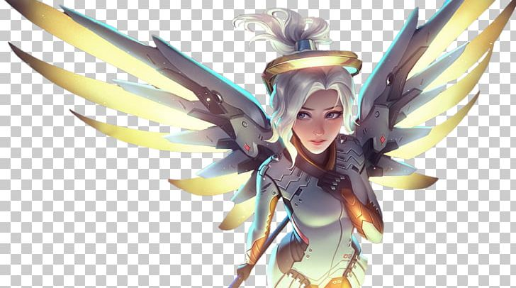 Overwatch Mercy Video Game Art PNG, Clipart, Action Figure.