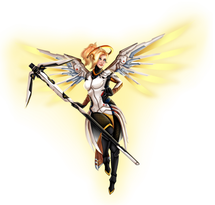 Mercy Overwatch Png Vector, Clipart, PSD.