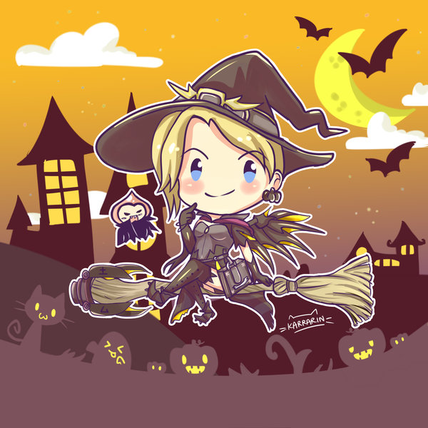 Witch Mercy's TRICK OR TREAT ! by karrarin on DeviantArt.