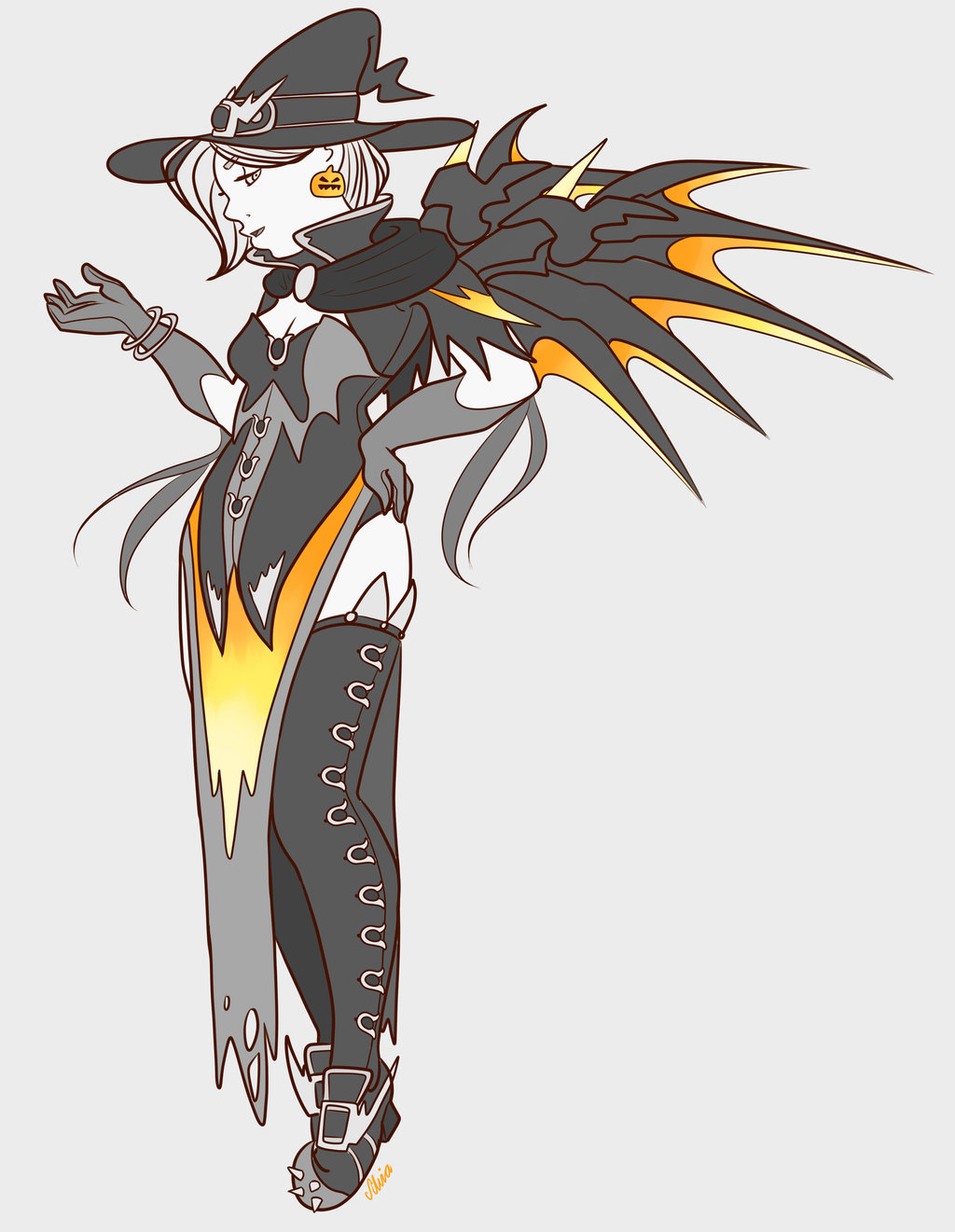 Witch Mercy by MissHeyThere on DeviantArt.