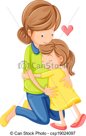 EPS Vectors of A love of a mother and a daughter.