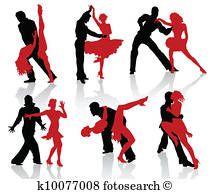 Ballroom dances. Tango Clipart.