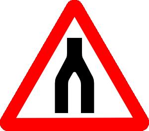Road merge clipart.