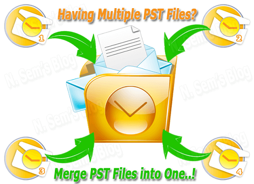 How To Merge Multiple PST Files into Single One.
