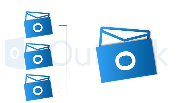 Merge PST Files Outlook 2016.