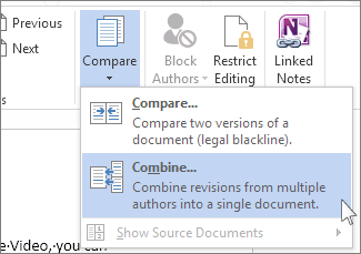 How to merge multiple Word documents into one.