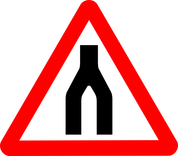 Road Signs Road Split Merge Clip Art at Clker.com.