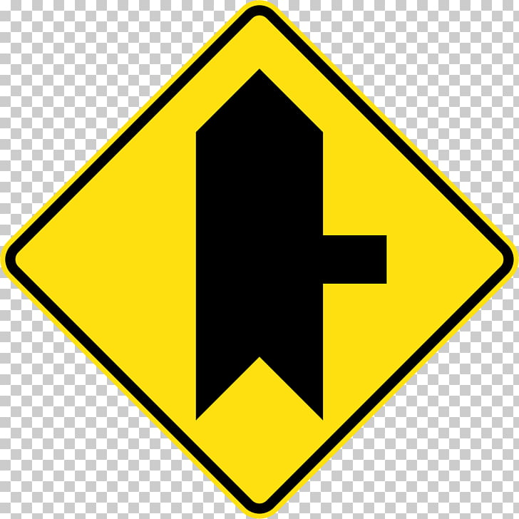 Traffic sign Merge Lane Road, road PNG clipart.