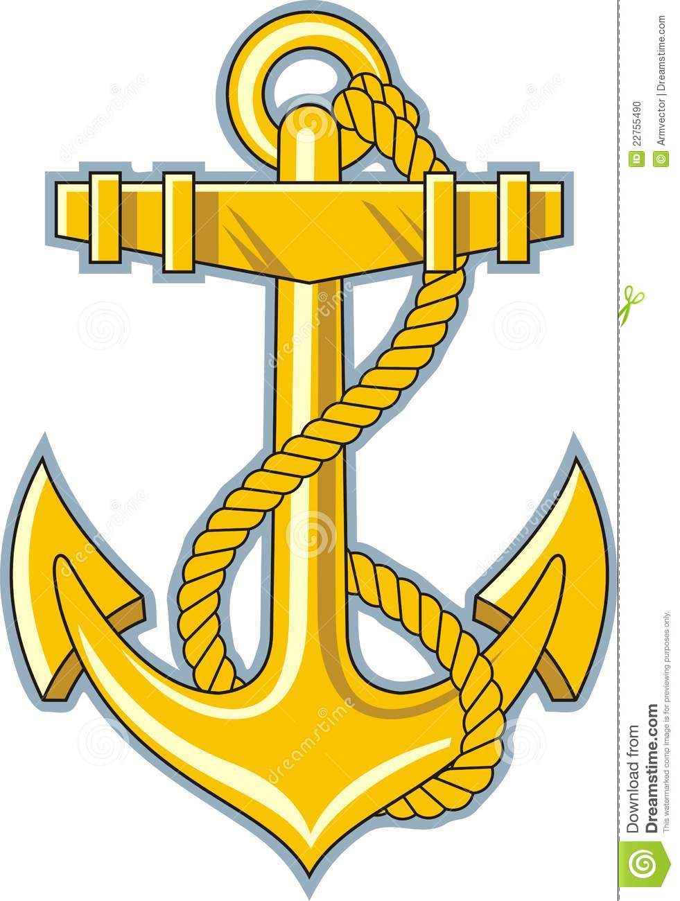 Gold Anchor Stock Photo Image 22755490 clipart.