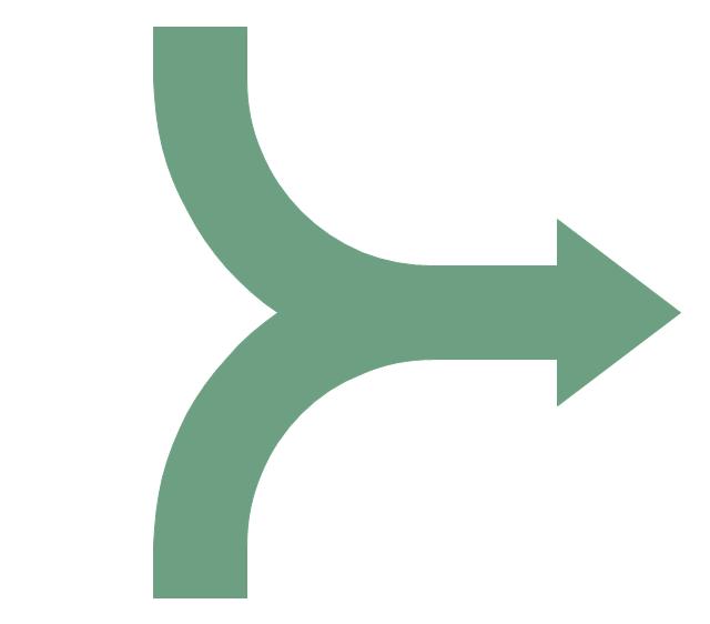 Merging arrow clipart.
