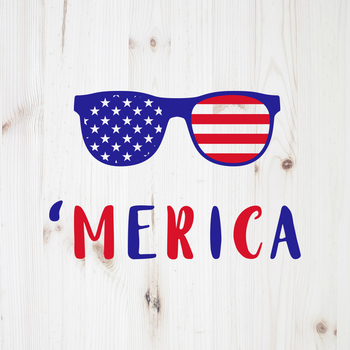 Merica Sunglasses Svg, 4th Of July Clipart, Merica Sunglasses Svg, 'Merica  Clip.