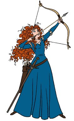 Disney Merida Clip Art.