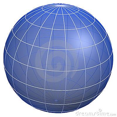 Globe Meridians / Earth Model Stock Photos.
