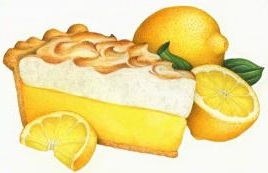 Lemon Meringue Pie Clipart.