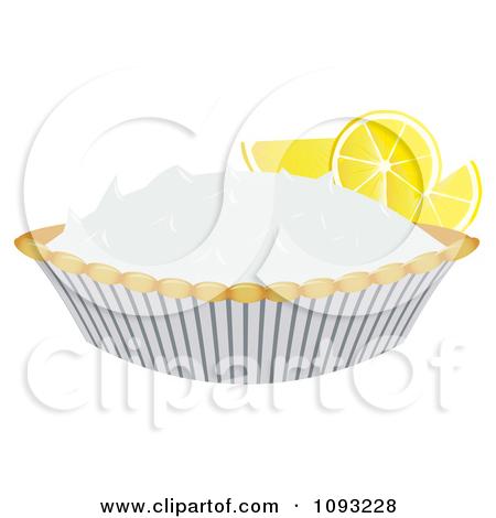 Clipart Slice Of Lemon Meringue Pie.