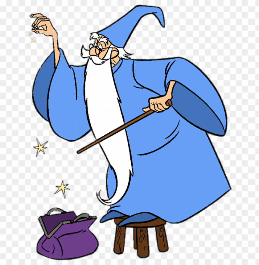 Download merlin adding some magic to his bag clipart png.
