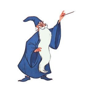 DisneySites!! Clipart > Movies > Sword in the Stone > Merlin.