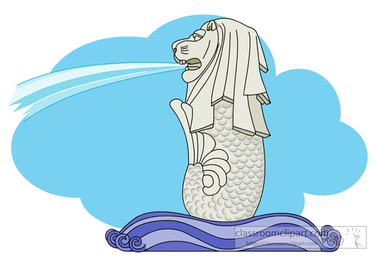 Merlion clipart - Clipground