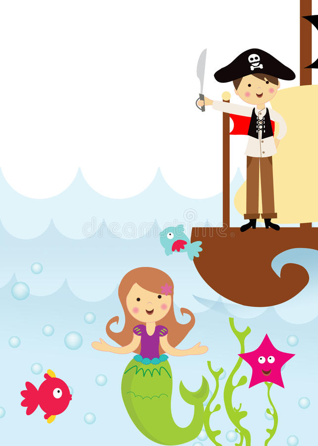 Pirate Mermaid Stock Illustrations.