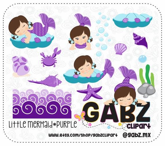 Little Mermaid, Purple, Baby Shower, Clipart, Baby Girl, Background, Baby  Shower Girl, Baby Mermaid, Mermaid, Gabz.
