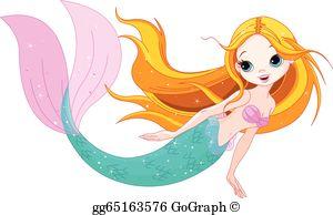 Mermaid Clip Art.