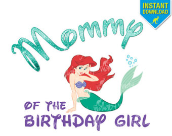 Little Mermaid Birthday Clipart.