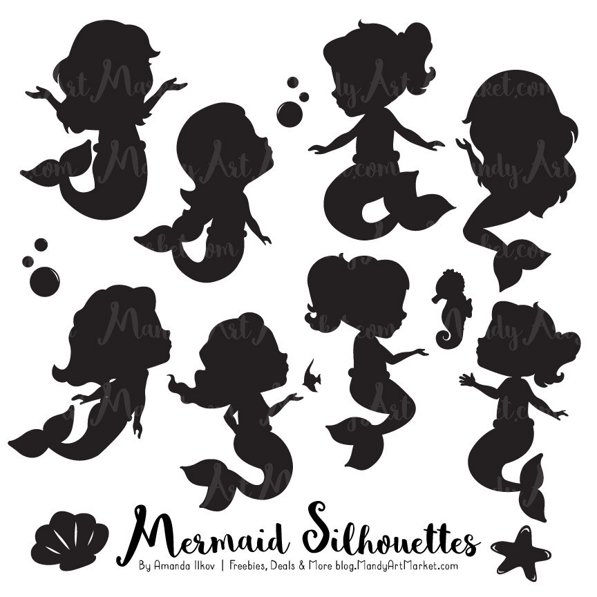 Mermaid Silhouette Kids.