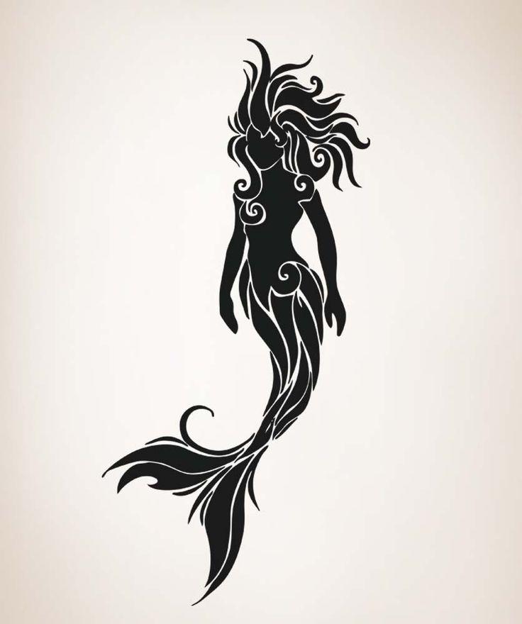 mermaid clipart silhouette on side #6