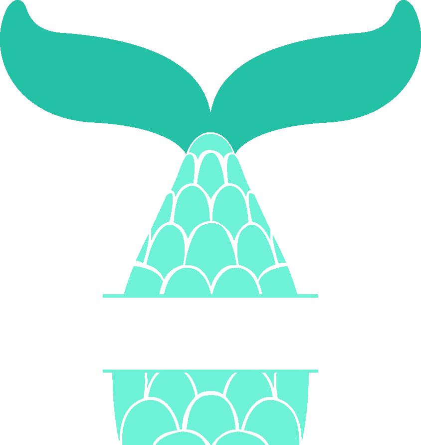 Mermaid Clip art Stencil T.