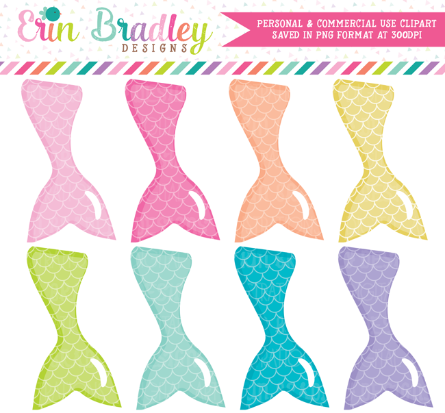 Mermaid Tails Clipart.