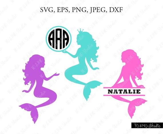 Mermaid SVG, Mermaid Monogram Svg, Cute Mermaid Svg, Mermaid Clipart, Sea  Beach SVG, Cricut, Silhouette Cut Files.