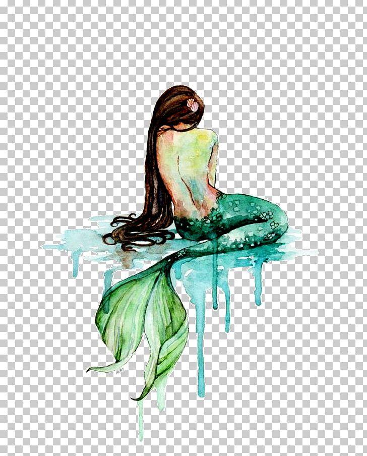 Mermaid Watercolor Painting Art PNG, Clipart, Aquamarine.