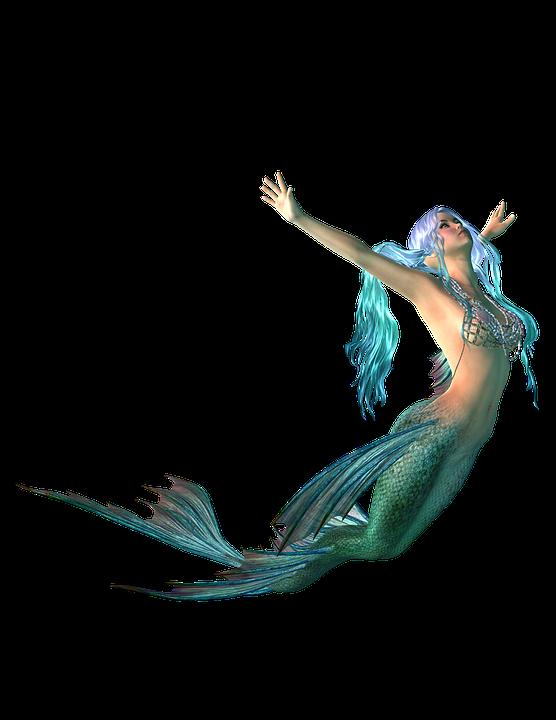 Mermaid Transparent Background.