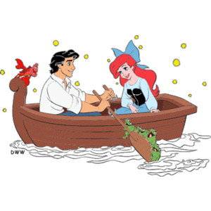 Ariel and Eric Clipart from Disney's The Little Mermaid.