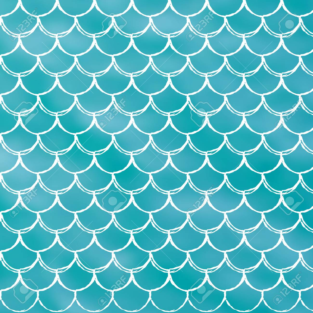 Mermaid scale on trendy gradient background. Square backdrop...