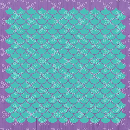 Mermaid Scales SVG PNG DXF Cut Files.