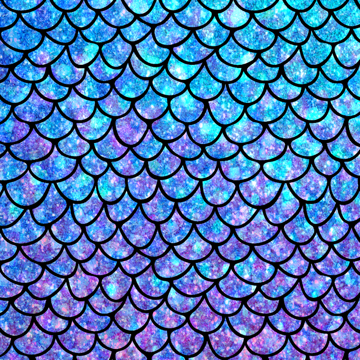 Purples & Blues Mermaid scales Comforters.
