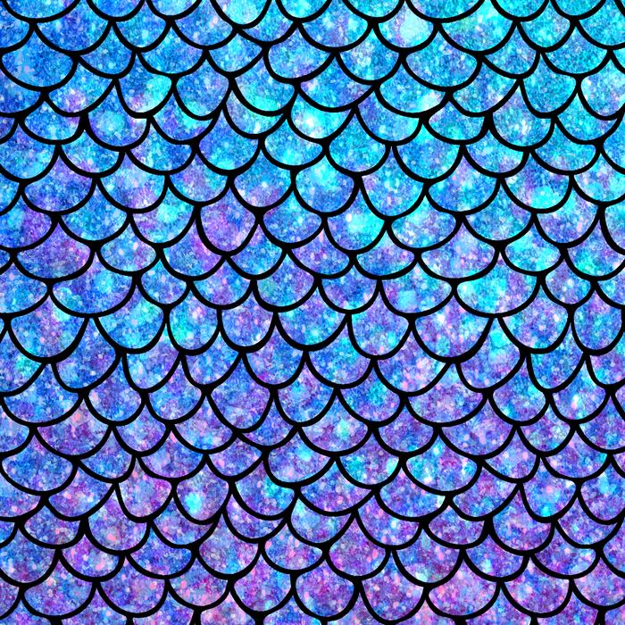 Purples & Blues Mermaid scales Comforters.