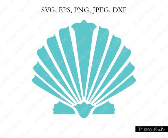 Shell SVG, Mermaid Shell Svg, Mermaid Clip Art, Mermaid SVG, Mermaid Shell  Clipart, Cricut, Silhouette Cut File.