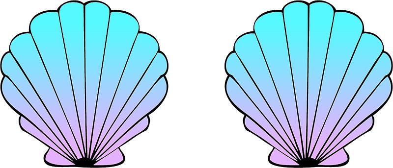 Mermaid Shell Clipart.