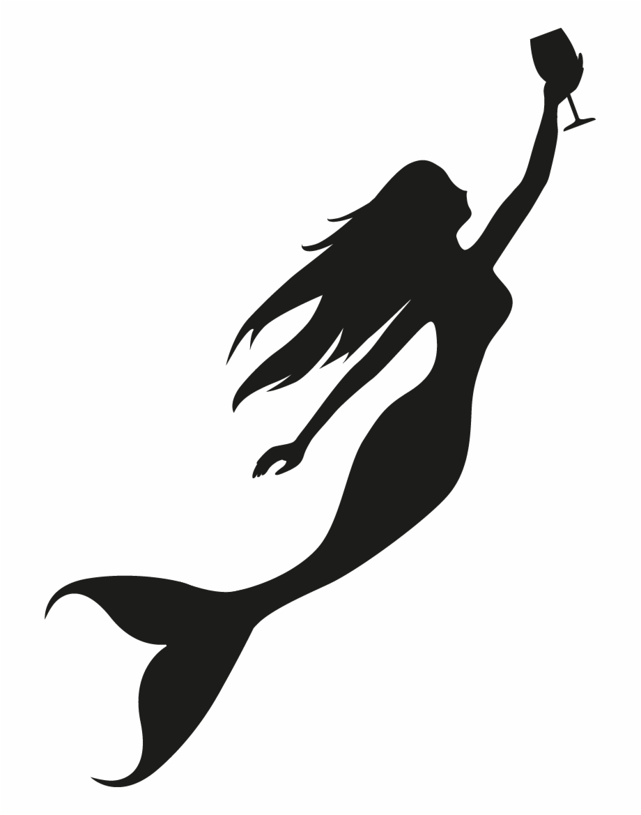 Mermaid Silhouette Png Transparent Background.
