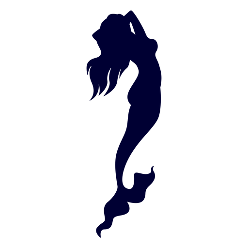 Mermaid sea creature silhouette.