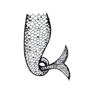 Free Mermaid Tail Clipart Black And White, Download Free.