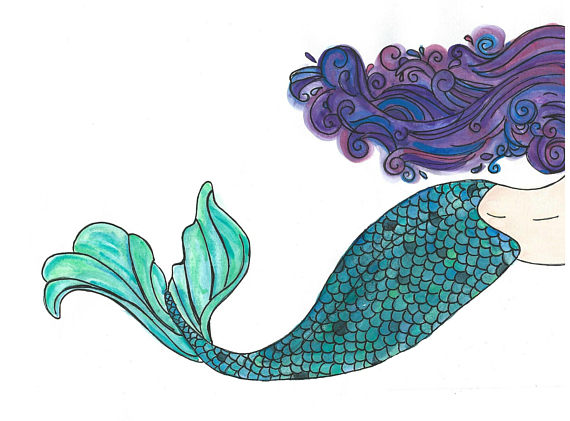 Mermaid Clipart, Mermaid Clip Art, Mermaid, Mermaid Art.